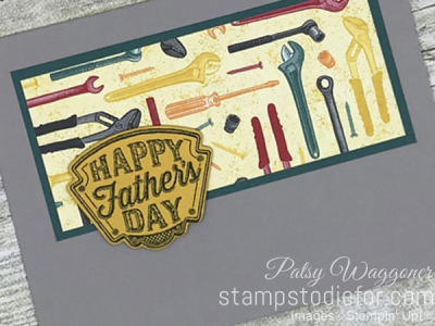 Card stamped using Sunday Sketches SS028 Classic Garage Suite of Products #stampinup #cardsketch #SS028 2
