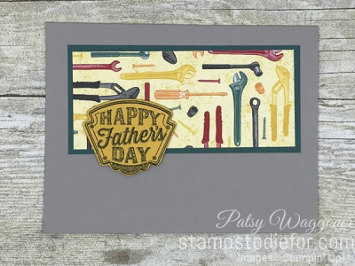 Card stamped using Sunday Sketches SS028 Classic Garage Suite of Products #stampinup #cardsketch #SS028