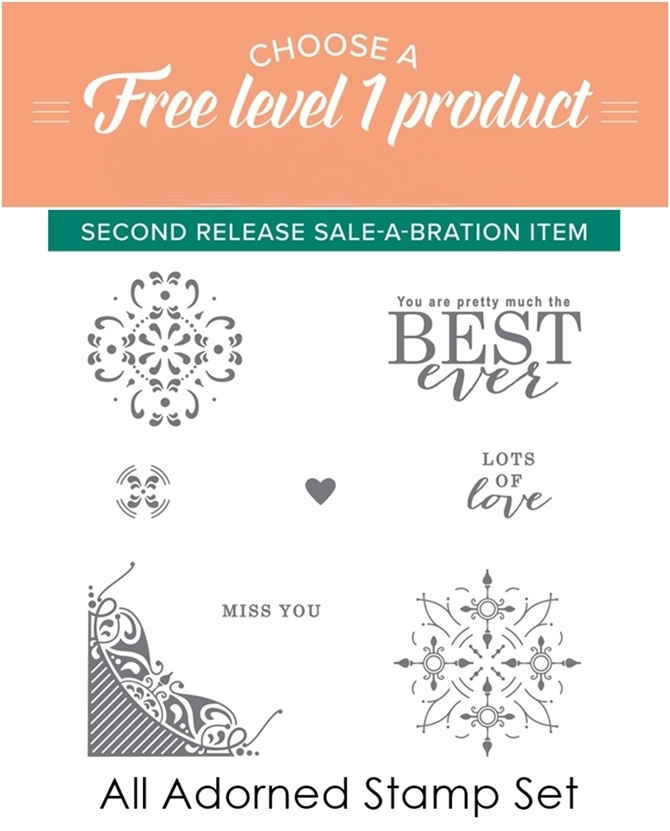 Level 1 FREE Sale-a-bration Items 2019 Stampin Up-vert