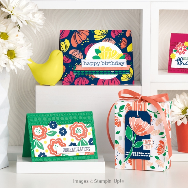 Happiness Blooms card samples