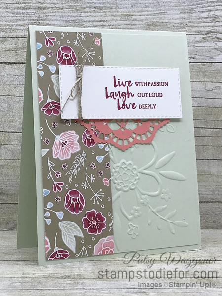 Card stamped using Sunday Sketches SS032 and Beautiful You Stamp Set  All My Love Paper #stampinup #SS032 2 (2)