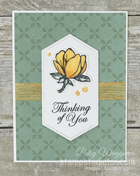 One Sheet Wonder OSW #loveitchopit Piece A Magnolia Lane Suite by Stampin' Up! ad
