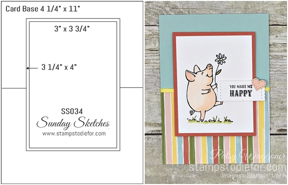Sunday Sketches SS034 This Little Peggy stamp set by Stampin' Up! tile