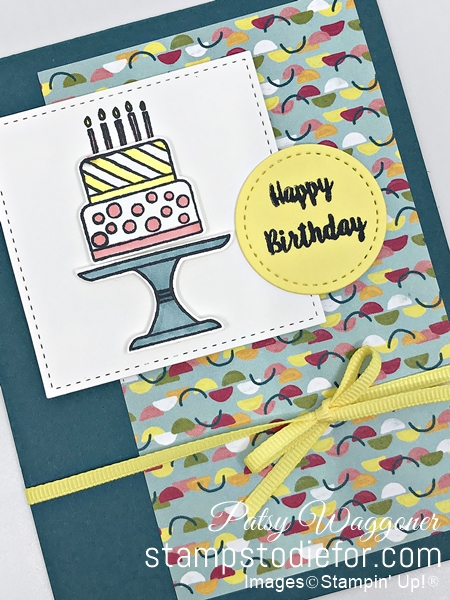 Card Sketch SS046 Piece of Cake stamp set slant