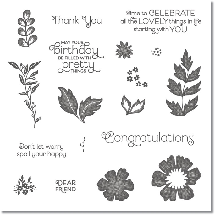 Everything Is Rosy Photopolymer Stamp Set