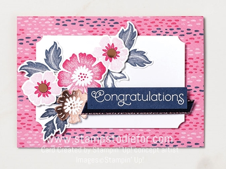 Congratulations card everything is rosy stampin up