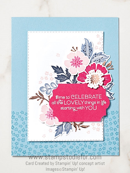 Card  everything is rosy by stampin up