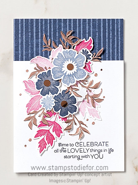 Celabrate card everything is rosy by stampin up