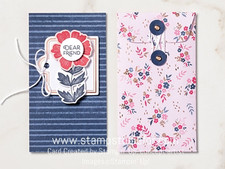 Card an envelop everything is rosy stampin up