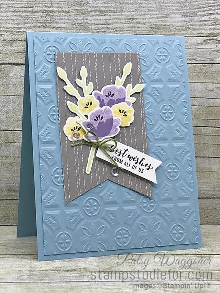 Card CASE using sample on page 55 2019 Occasions Catalog using Jar of Love stamp set #stampinup #CASE slant (2)