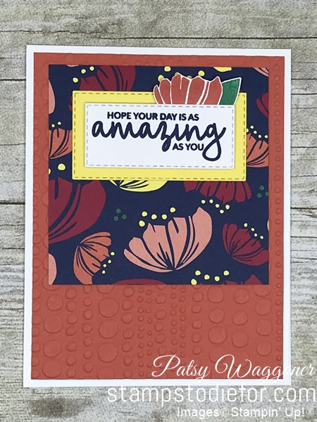 Card created using the One Sheet Wonder Piece E Happiness Blooms Desisgner Paper  #stampinup #onesheetwonder #loveitchopit