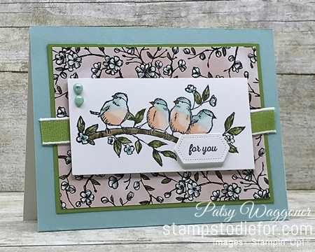Sunday Sketches SS042 Free as a Bird stamp set by Stampin' Up!