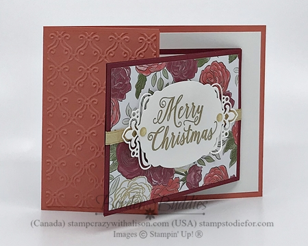 Christmas Time by Stampin' Up! Card color Cyalpso Coral
