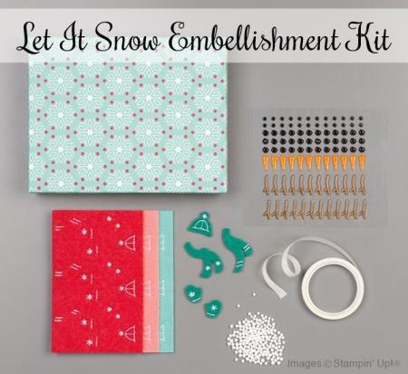 Let it Snow Embellishment Kit 2