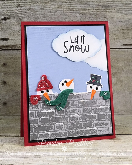 Let is Snow Suite by Stampin Up Snowman punch 1