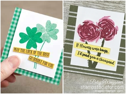 Just in CASE series pg 17 Abstract Impessions by Stampin' Up! tile