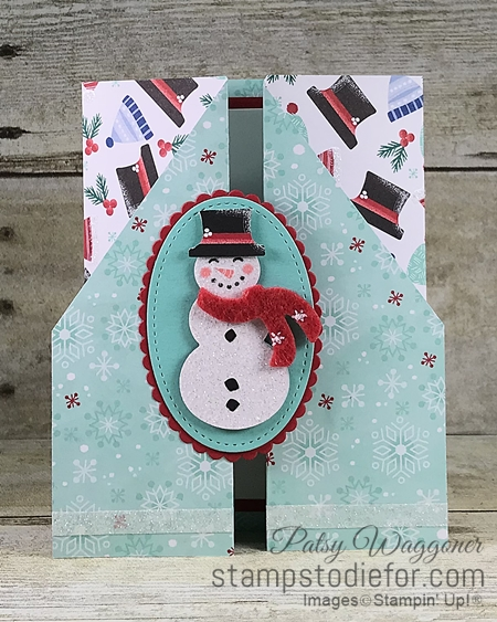 Double Gate Fold Card using Let it Snow Suite of Products by Stampin Up w