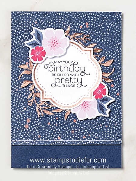 Birthday card everything is rosy stampin up 2