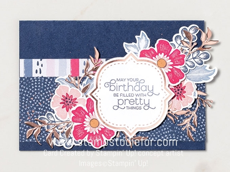 Birthday card everything is rosy stampin up