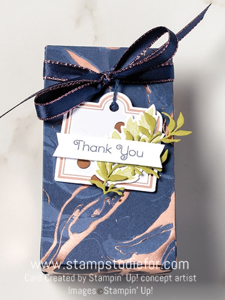 Everything is rosy by stampin up gift bag