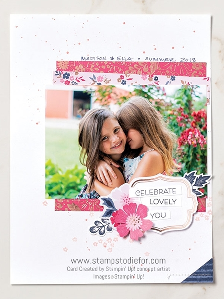 Scrapbook page everything is rosy stampin up