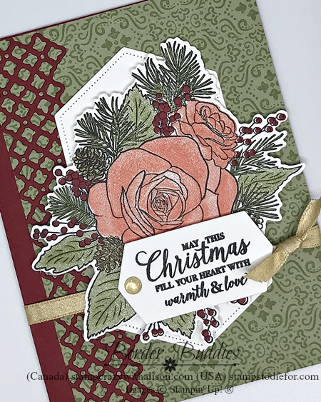 Christmas Time by Stampin' Up! Card color Mossy Meadow slant