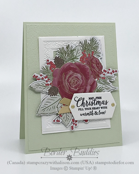 Christmas Time by Stampin' Up! Card color Seafoam