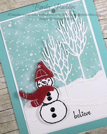 Snowman Seasons Stamp Set by Stampin Up Card 1 wood (2)