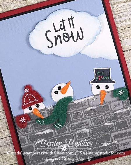 Let is Snow Suite by Stampin Up Snowman punch 3