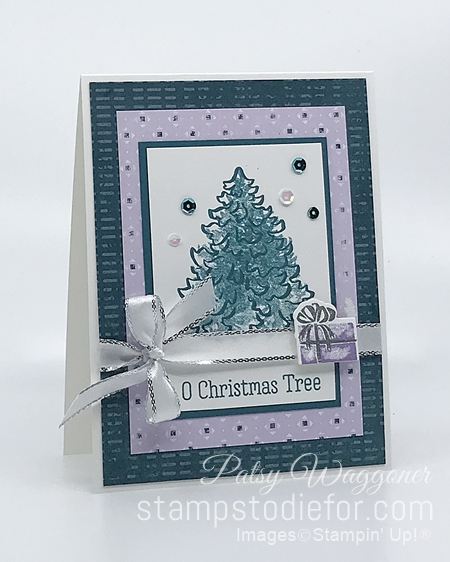 Most Wonderful Time Stamp Set by Stampin Up White - Seafoam