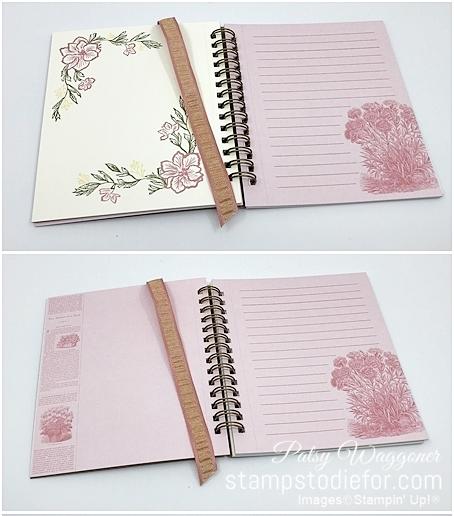 Pressed Petals note Book