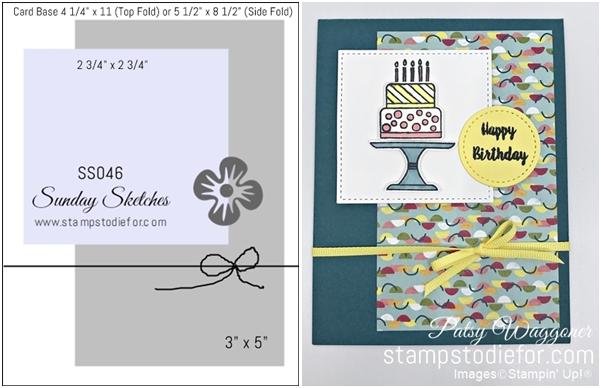 Sunday Sketches SS046 Birthday Card