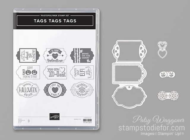 Tags Tags Tags stamp set by Stampin Up with dies