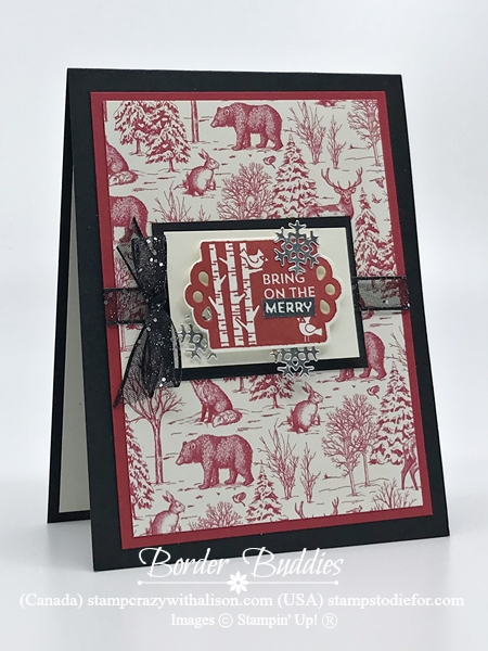 Handmade Card Sample using Tags Tags Tags Christmas
