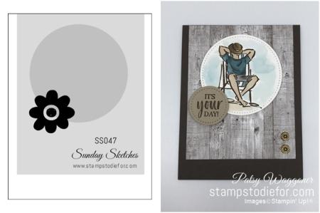 Card Sketch SS047 A Good Man stamp set slant - TILE