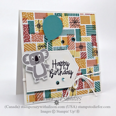 Just in CASE card created using the Birthday Bonanza Suite by Stampin' Up! 2-27