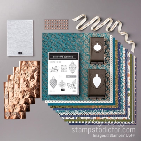 Brightly gleaming suite of products by stampin up