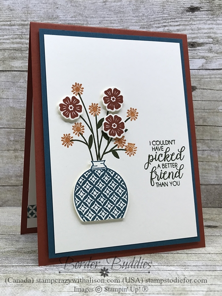 Friend Card made with Christmas Gleaming & Beautiful Bouquet Stamp Sets by Stampin' Up