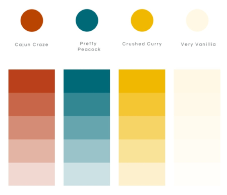 Brightly Gleaming Stampin Up Color Palette