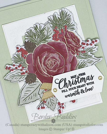 Christmas Time by Stampin' Up! Card color Seafoam slant