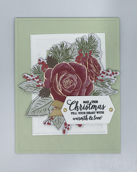 Christmas Time by Stampin' Up! Card color Seafoam no light boxc