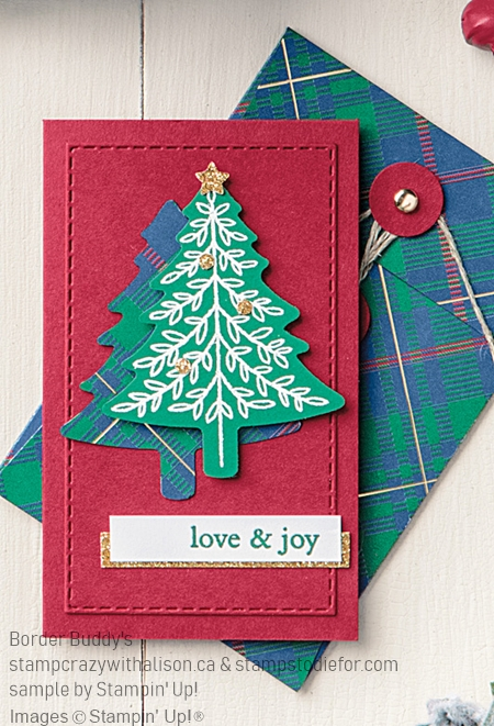 Christmas Card Tree created with Perfectly Pliad Stamp Set