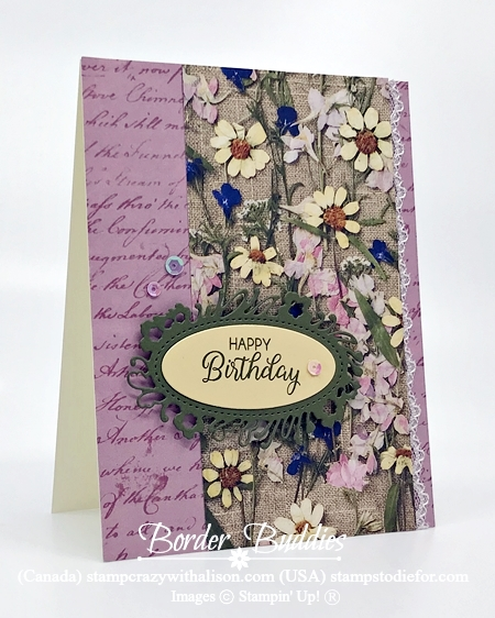 Just in CASE card from page 15 Annual Stampin Up Catalog