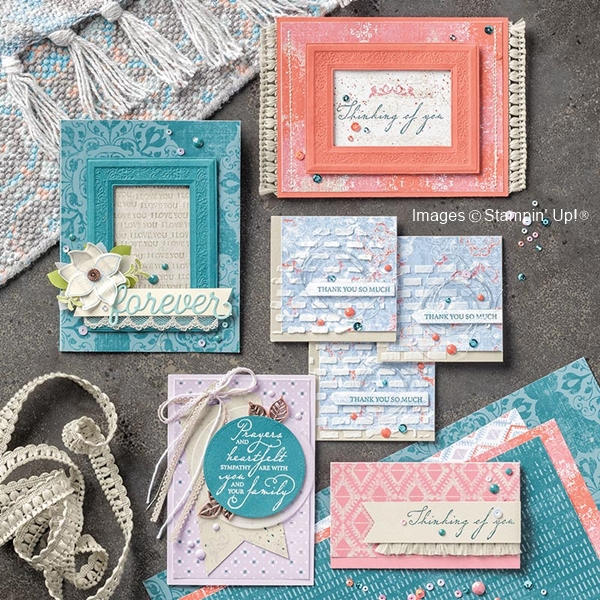 Woven Threads Suite Samples by Stampin' Up