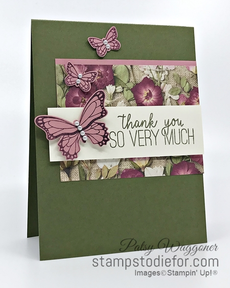 Sunday Sketches Card Sketch using Butterfly Gala & Punch by Stampin' Up! 5-3-2020 a