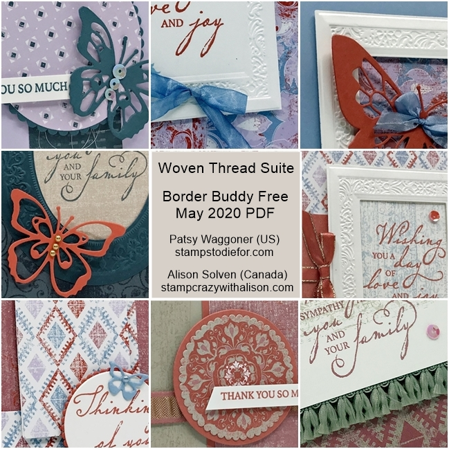 Woven Threads Suite Border Buddy Free PDF Card Tutorial