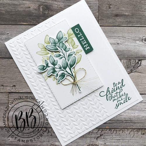 Card stamped with Forever Fern stamp set from the Forever Greenery Suite of products by Stampin' Up!® 3