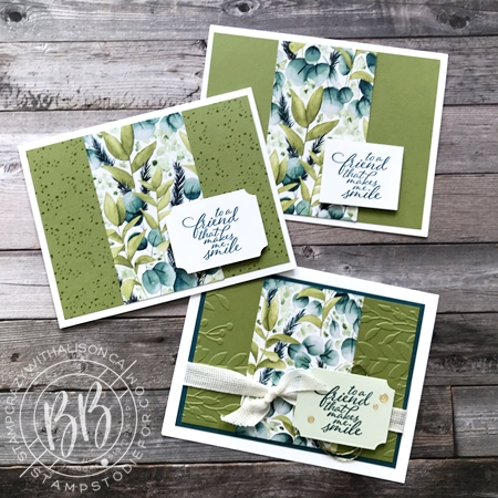 Step It Up Cards using Forevery Greenery by Stampin' Up!