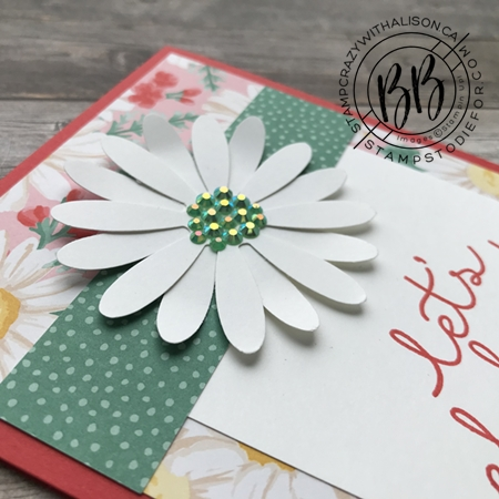 SS018 Flowers for Everyseason paper and Daisy Punch Card