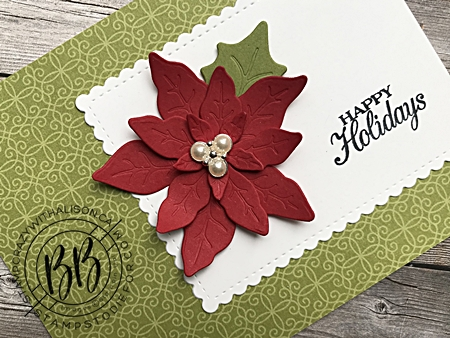 September Border Buddy Free PDF Tutorial Card using Poinsettia Dies by Stampin' Up! 2